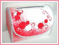 Свадебный сундучок для денег, красный, фото 1