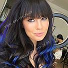 Тёмно синие волосы на заколках, фото 8