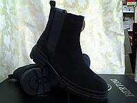 Стильные демисезонные замшевые сапоги-ботинки Bertoni