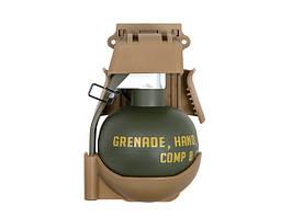 Ładownica szybkiego dostępu z atrapą granatu M67 - Coyote Brown [TMC] (для страйкбола)