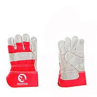 Перчатка замшевая комбинированная INTERTOOL SP-0152W
