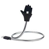 Кабель-держатель для телефона Ладонь - Palms cable Apple iPhone lightning USB, цвет - черный