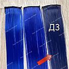 Темно сині прядки на заколках кліпсах - термо, фото 5