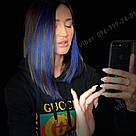 Темно сині прядки на заколках кліпсах - термо, фото 10