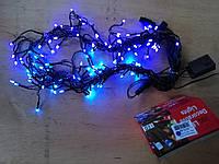 Новогодняя светодиодная гирлянда ШТОРА-ДОЖДИК 120LED 3м*0.7м  синий