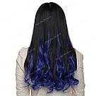 Модные синие прядки волос на заколках, фото 10