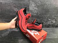 Мужские зимние кроссовки Nike 97 6752 красные с черным, фото 1