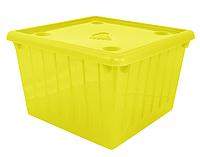 Контейнер пластиковый с крышкой для хранения игрушек, вещей 25 л 40Х40Х25 см Алеана OST-130