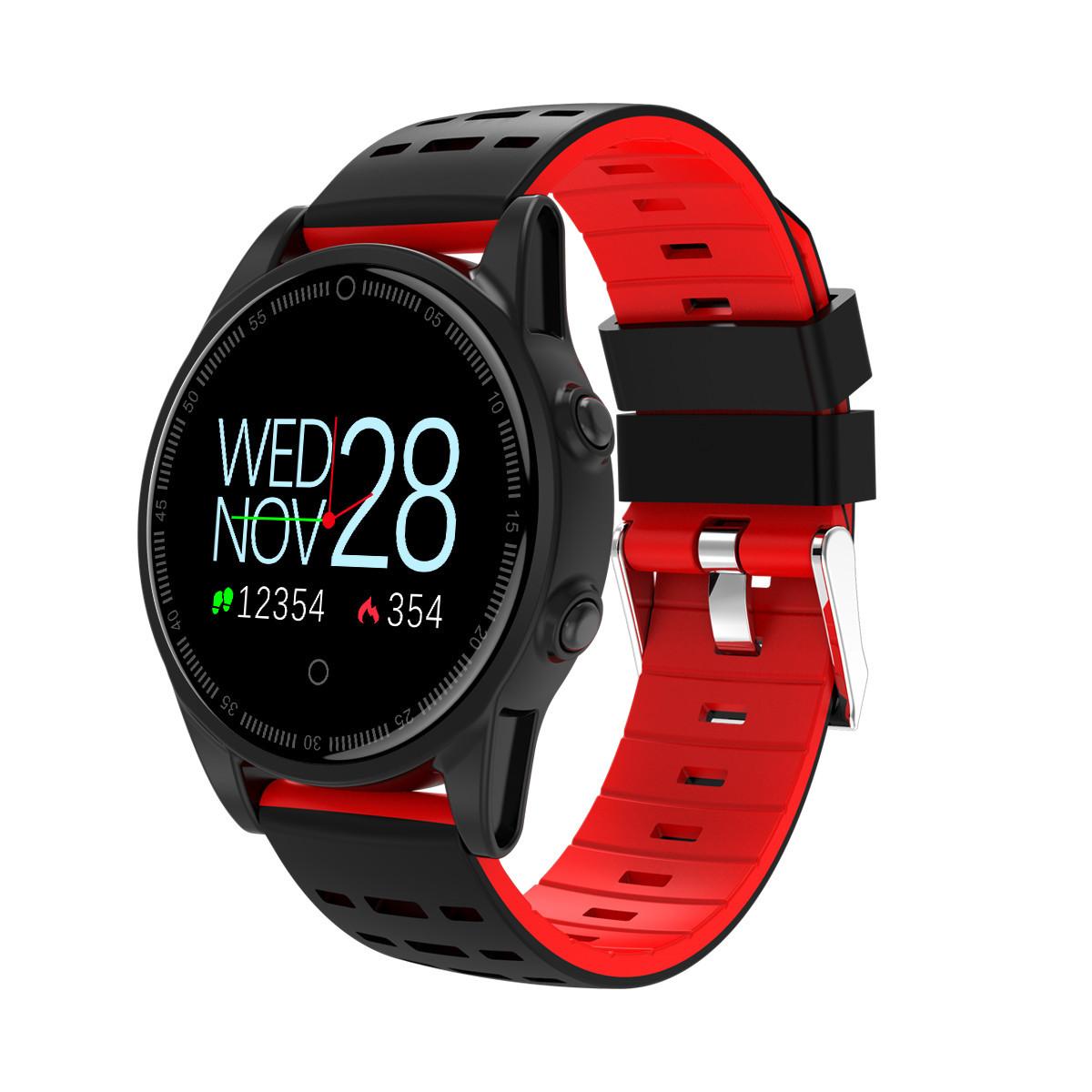 Показать умные часы с большими цифрами на циферблате браслет спорт