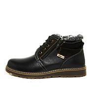 Мужские зимние ботинки 2018 модель комфорт из натуральной кожи высокого качества