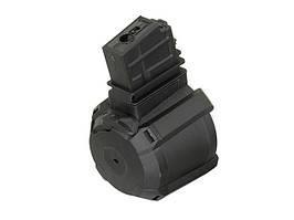 Elektryczny magazynek bębnowy na 1200 kulek do G36 - Black [BattleAxe] (для страйкболу)