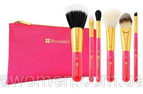 Набор кистей для макияжа BH Cosmetics Neon Pink mini (6 штук)