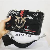 Женская сумочка Pinko (Пинко), черный цвет