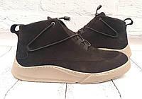 Ботинки мужские зимние Gross замшевые черные/коричневые GR0021