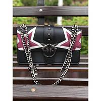 Женская мини-сумочка Pinko (Пинко) Black Star, черный цвет, фото 1