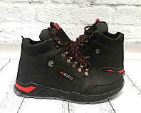 Ботинки мужские зимние ECCO кожаные черные E0053