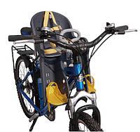 Детское велокресло переднее Tilly T-811 расчитано до 15 кг
