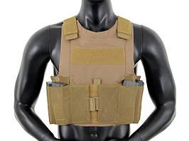 Низкопрофильный Body Armor - Coyote [8FIELDS] (для страйкбола)