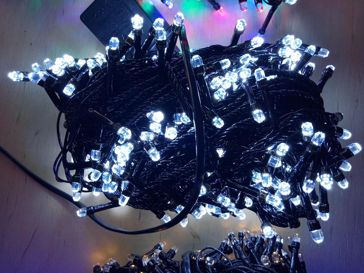 Новогодняя светодиодная гирлянда РУБИНКА 200LED белый