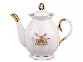 """Фарфоровый заварочный чайник 550 мл """"Принцесса"""" Lefard 55-2552"""