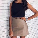 Женская кожаная юбка (  зеленая размер хс-с), фото 5
