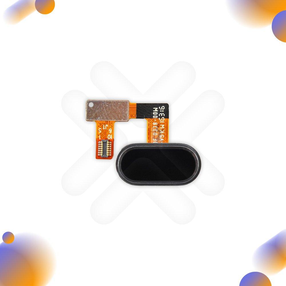 Шлейф для Meizu U20 с внешней кнопкой Home, цвет черный