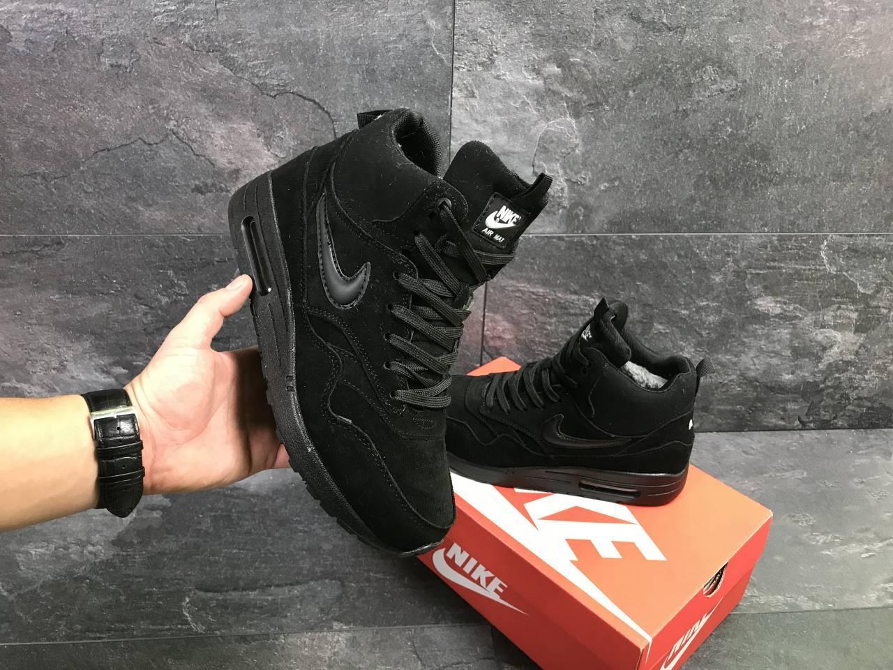 e406bc9a336a Мужские зимние кроссовки Nike Air Max 87 6759 черные  продажа, цена ...