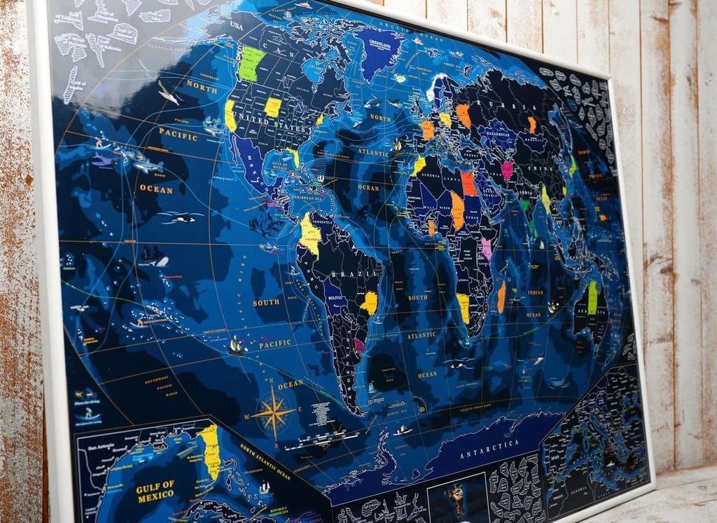 Большая скретч карта мира на стену для путешественника My Map Discovery edition ENG в тубусе