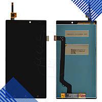 Дисплей Lenovo A7010 X3 Lite, Vibe K4 Note с тачскрином в сборе, цвет черный