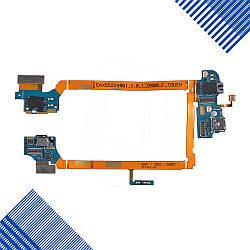 Шлейф для LG Optimus G2 D800, D801, D803 с разъемом зарядки, разъемом для наушников и микрофоном