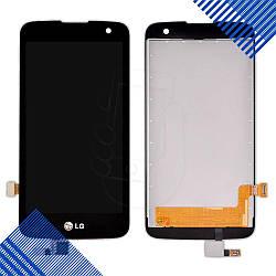 Дисплей LG K4 K120E, K121, K130E с тачскрином в сборе, цвет черный