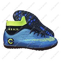 Обувь футбольная сороконожки (бампы) Nike Mercurial Blue FB180025 (р-р 36-41, синий)