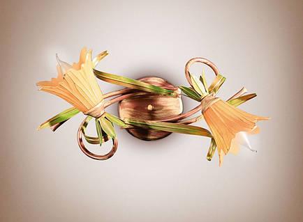 Люстра на 2-х ламповая, для спальни 5412-1