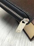 Стильный мужской кошелек на молнии Louis Vuitton черный Премиум Качество клатч Брендовый Louis Vuitton реплика, фото 5