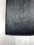Стильный мужской кошелек на молнии Louis Vuitton черный Премиум Качество клатч Брендовый Louis Vuitton реплика, фото 4