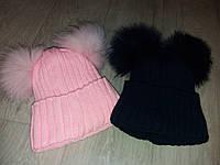 Детская зимняя шапка на девочку,на флисе
