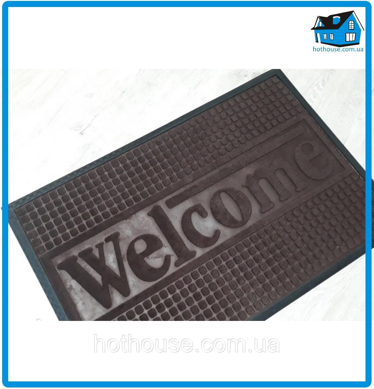 Придверный коврик с резиновым кантом 60*90см