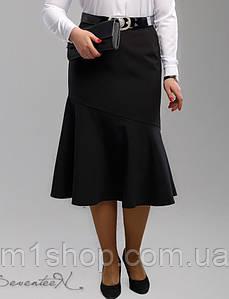 Женская черная юбка годэ больших размеров (1995 svt)