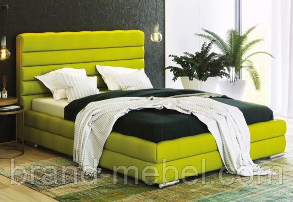 Ліжко двоспальне у м'якій оббивці Остін/ Кровать двуспальная в мягкой обивке Остин