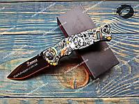 Нож складной Boker 048 Тату Череп Полуавтомат, фото 1