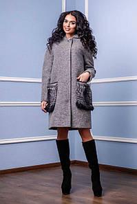 Женское пальто FT П-1001 н/м Cost Тон 10
