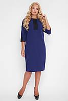 Сукня жіноча з кружевом Аманда синього кольору, фото 1