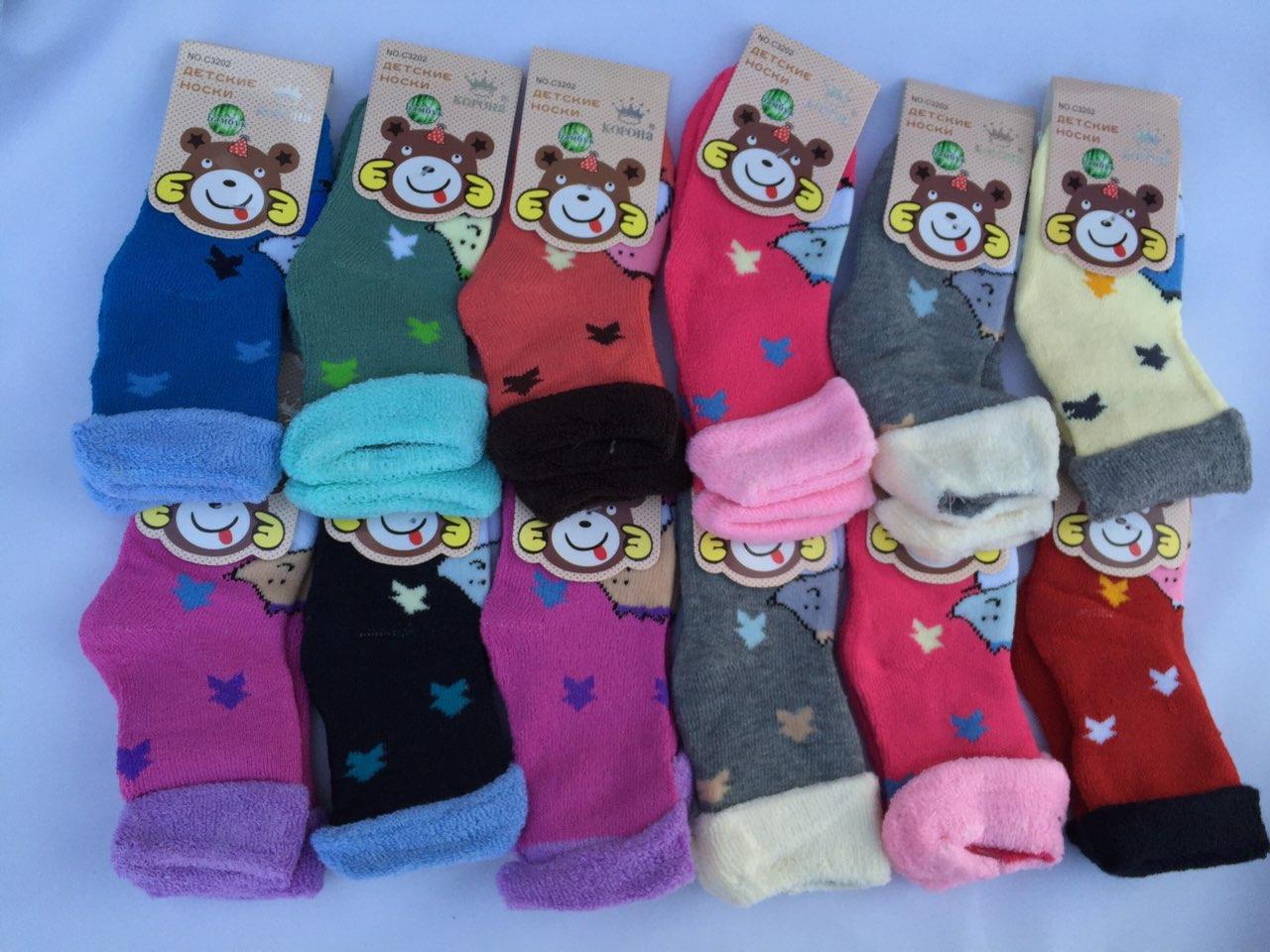 Детские носки махровые 80% хлопок КОРОНА. Р.-р. M