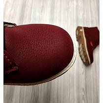 Ботинки детские зимние с мехом эко-нубук бордовые, фото 3