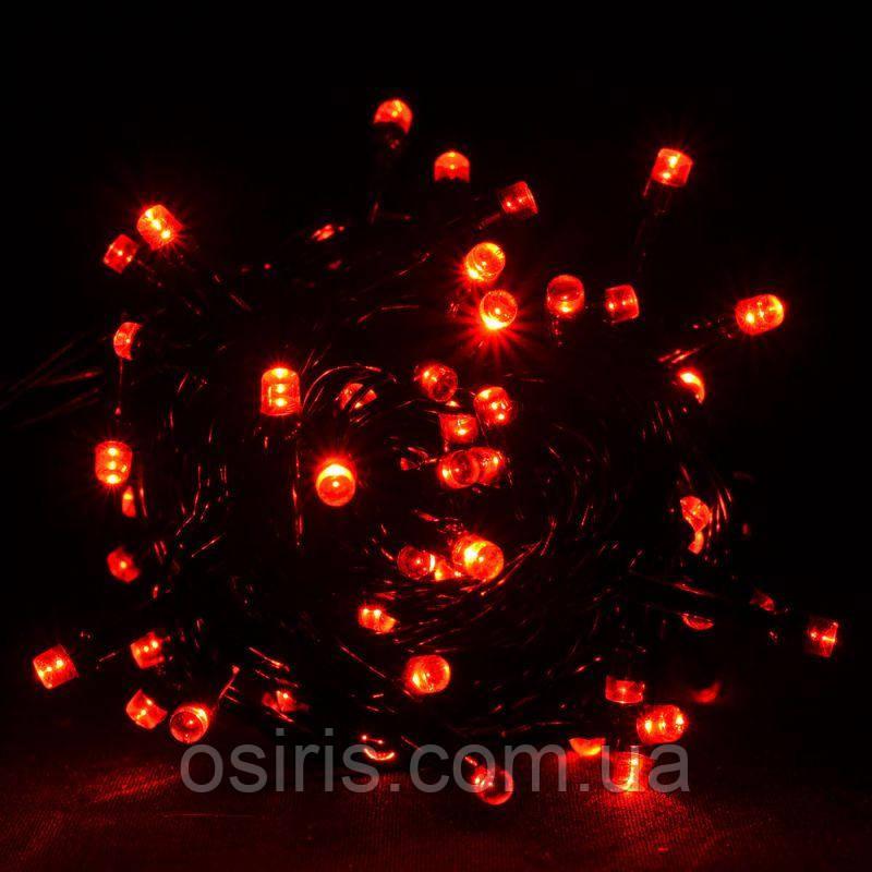 Гирлянда новогодняя красная светодиодная на 300 LED ламп, длина 22 м для помещений и улицы