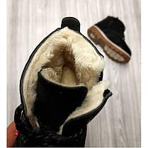 Ботинки детские зимние с мехом эко-нубук черные, фото 2