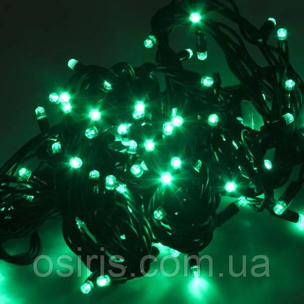 Гірлянда новорічна зелена світлодіодна на 300 LED ламп, довжина 22 м для приміщень (обмежена для вулиці)