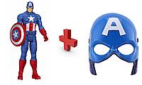 Игровой набор (герой + маска ) Капитана Америки Мстители Marvel Avengers
