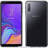 Закаленное защитное 5D стекло ПОЛНАЯ ПРОКЛЕЙКА (на весь экран) для Samsung A750 Galaxy A7 (2018) (выбор цвета)