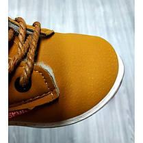 Ботинки детские зимние с мехом эко-нубук коричневые, фото 3